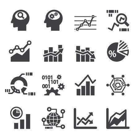 analytics icon set Zdjęcie Seryjne - 41222815