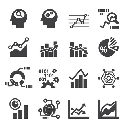 Analytik icon set Standard-Bild - 41222815