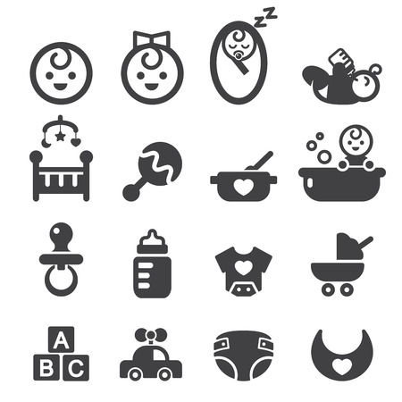 car accessory: baby icon set