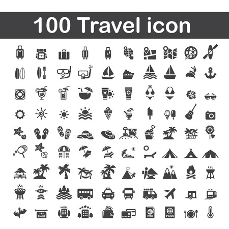(100) 여행 아이콘