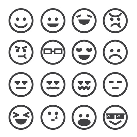 human emotion icon Ilustrace