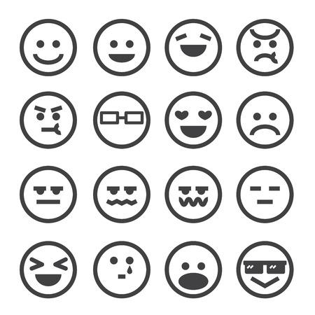 menselijke emotie pictogram Stock Illustratie