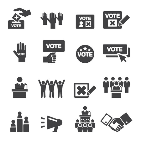 democracia: icono de la democracia Vectores