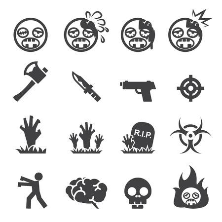 zombie cartoon: Zombie icons