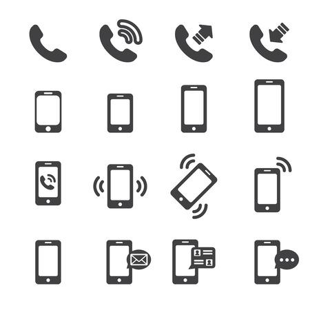 Icône de téléphone Banque d'images - 42910241
