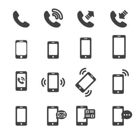 talking by phone: icono del tel?fono Vectores