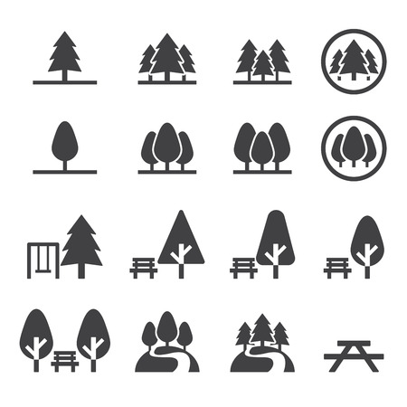 park: park icon set Illustration