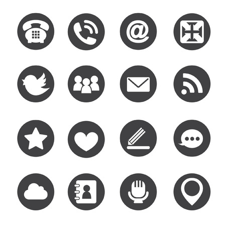 communication icons: Web communication icons  internet vector set