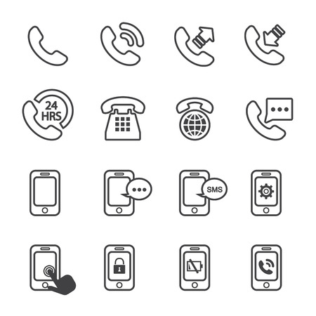 old cell phone: phone icon Illustration