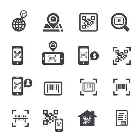 home finances: Check code icon Illustration