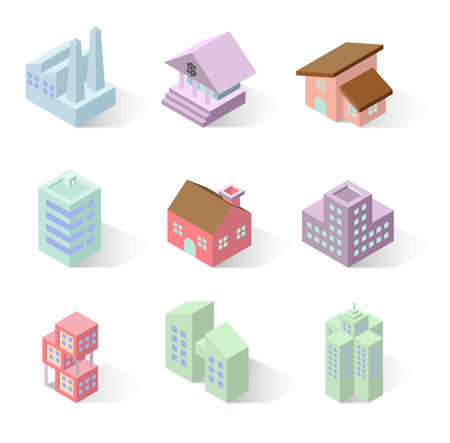 in perspective: 3D isometric buildings