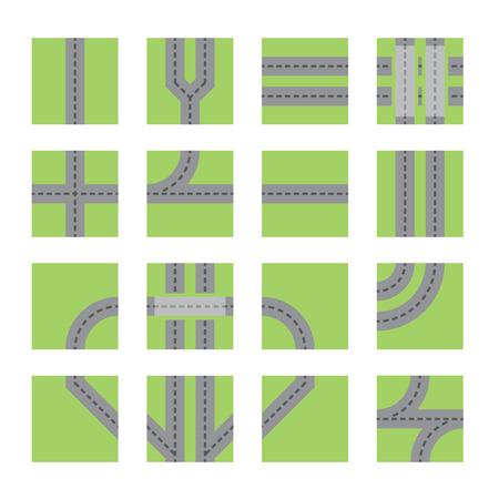 asphalt: road set Illustration