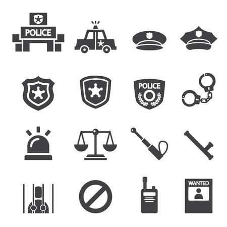 hombre con sombrero: icono de la polic�a Vectores