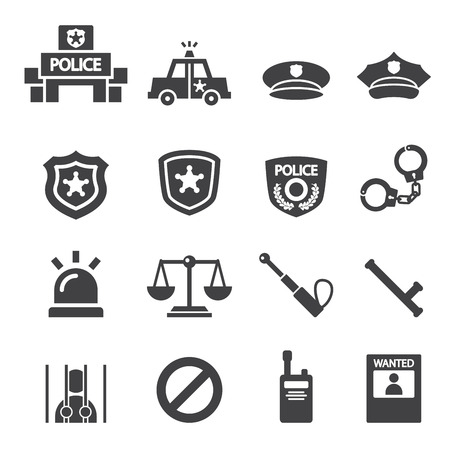 police badge: police icon Illustration