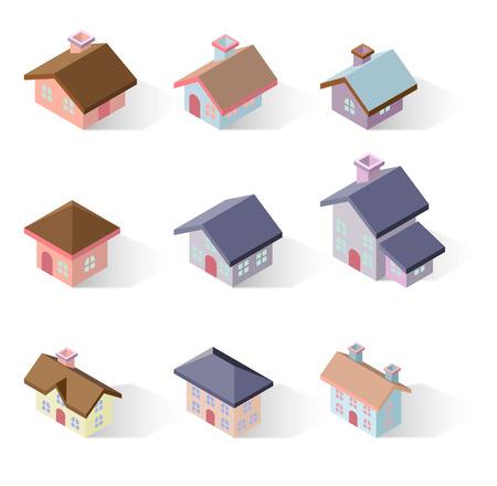 midtown: building 3d isometric Illustration