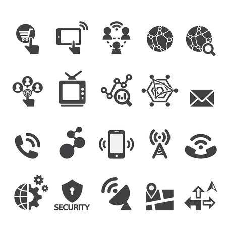 internet servers: tachnology icon Illustration