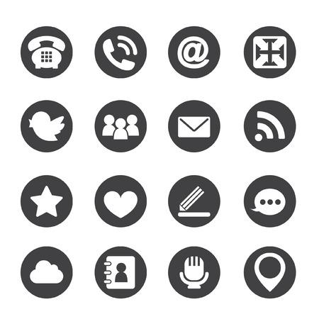 web icons: Web communication icons