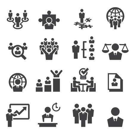 Los recursos humanos y los iconos de gestión Foto de archivo - 43648530