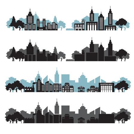 townhouses: cityscapes set