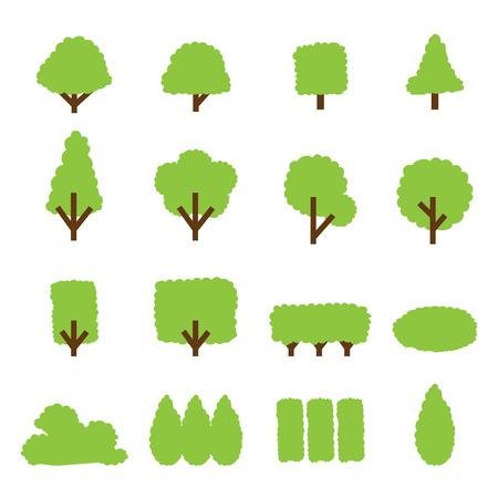 buisson: arbre et l'icône de brousse
