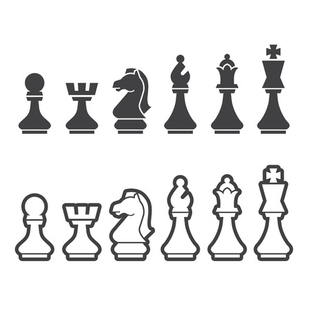 bishop chess piece: chess icon Illustration