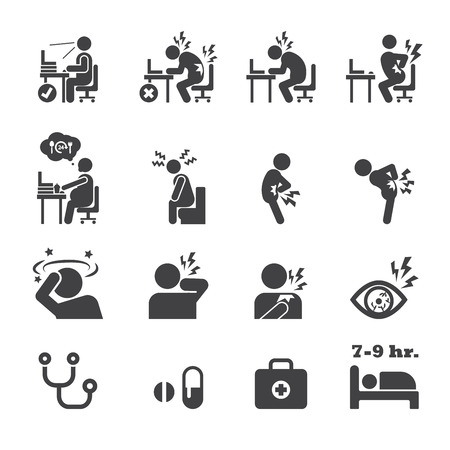 work stress: office syndrome icon