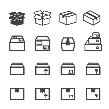 packing boxes: box icon
