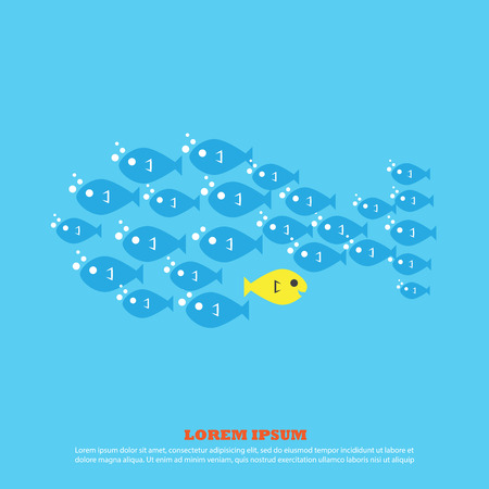 small flock: fish for business Illustration
