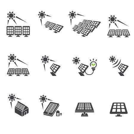solar cell: solar cell icon set