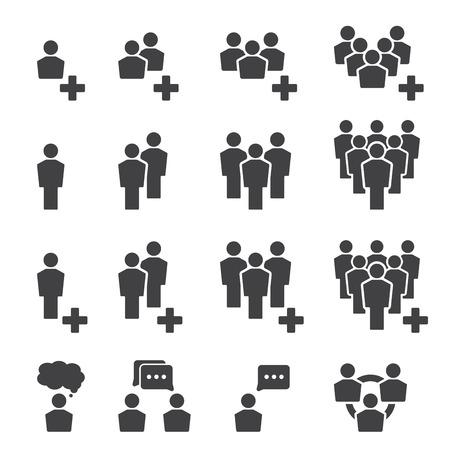 mensen icon set