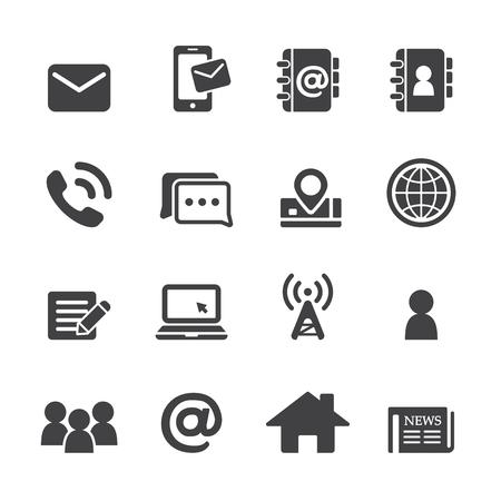 contactos conjunto de iconos Ilustración de vector