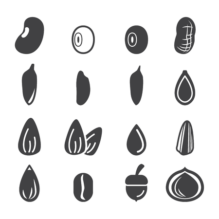 seeds: nut and seed icon