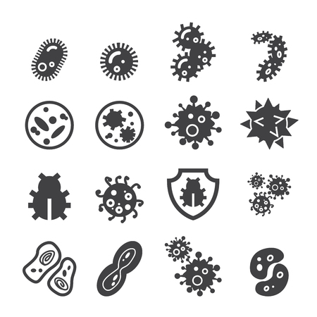 virus bacteria: bacteria icon Illustration