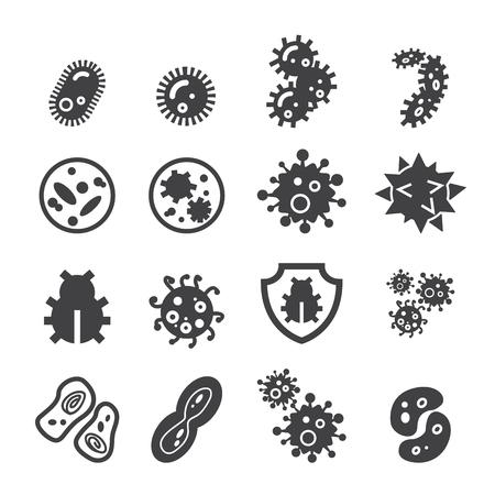 bacteria icon Vettoriali