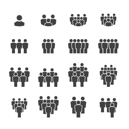 pictogramme: équipe, icône, ensemble