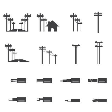 electrical tower: electricity post icon