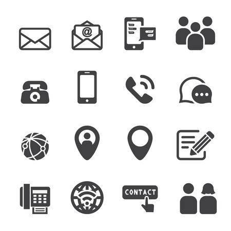 correo electronico: icono de contacto