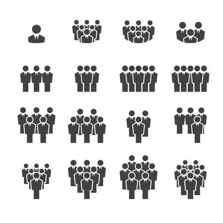 hombres ejecutivos: equipo conjunto de iconos