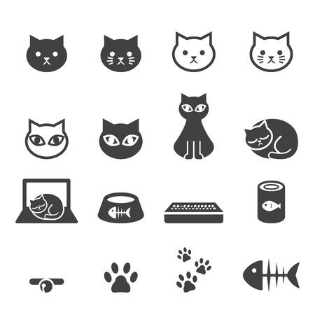 Chat icon set Banque d'images - 47947335