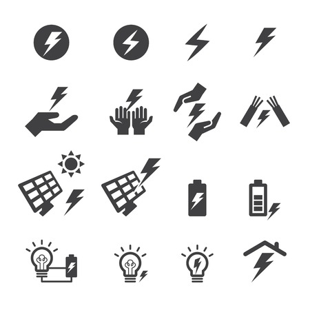 contador electrico: icono de la electricidad