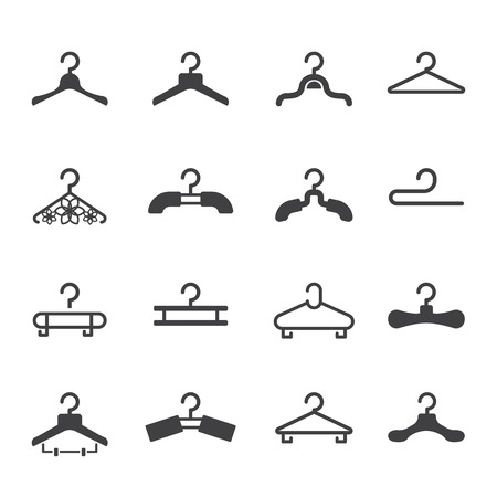 storage compartment: clothes hanger icon Illustration