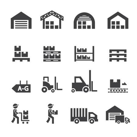 magazijn pictogram Stock Illustratie