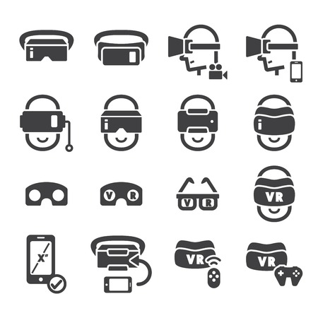 virtual: virtual reality icon Illustration