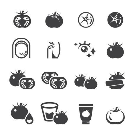conjunto de iconos de tomate Ilustración de vector