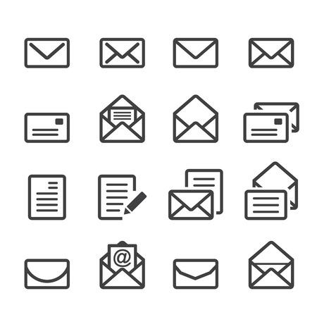 icono de la línea de correo