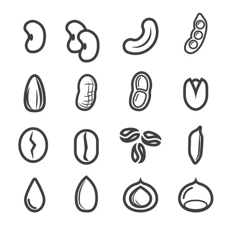 nut and seed icon.line vector.