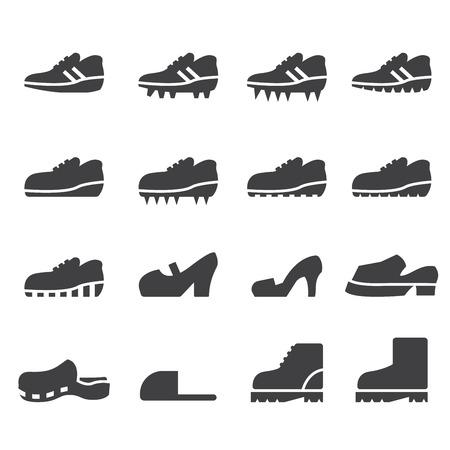 shoes icon set Illustration