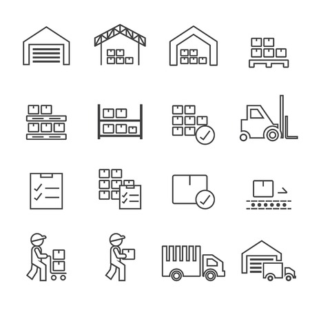 warehouse icon.line vector.