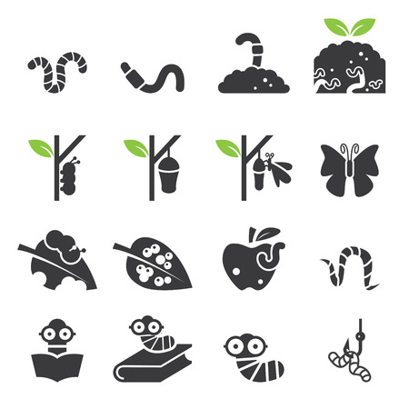 imago: Worm icon set.