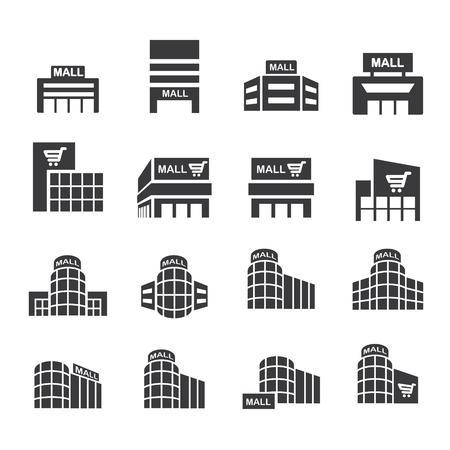 supermarket series: shopping mall icon set.vector eps10